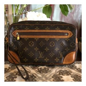 AUTHENTIC LOUIS VUITTON MARLY DRAGONNE CLUTCH